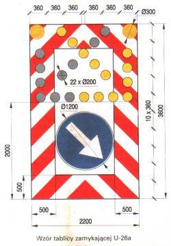 U26a 250x360 Tablica drogowa U26a