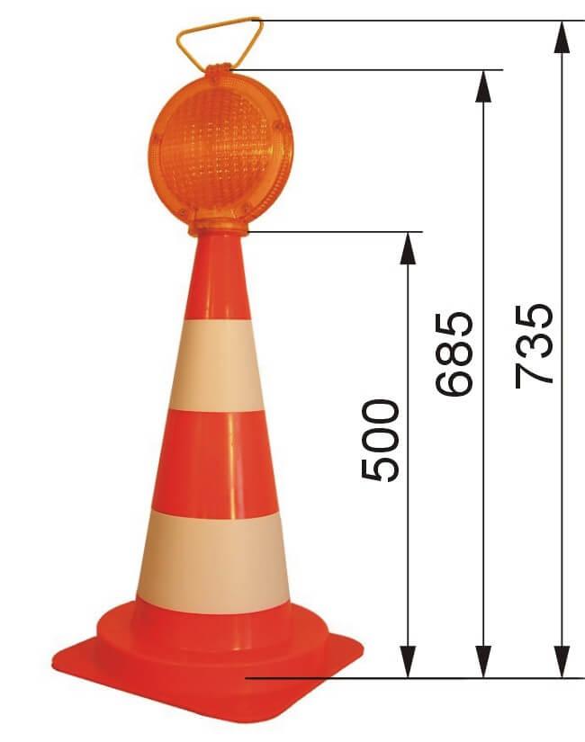 pacholek 50 wymiary Portable warning lamps on cones LODP SUPER FLASH