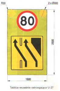 U27 197x300 Tablica drogowa U27