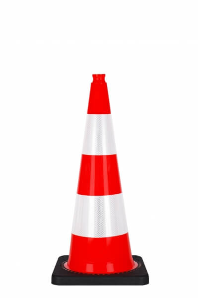 75 cm cone with black PVC basis reflective traffic cones height 75 cm