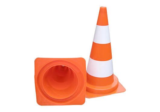 Cone 50 cm pvc cones road height: 50 cm