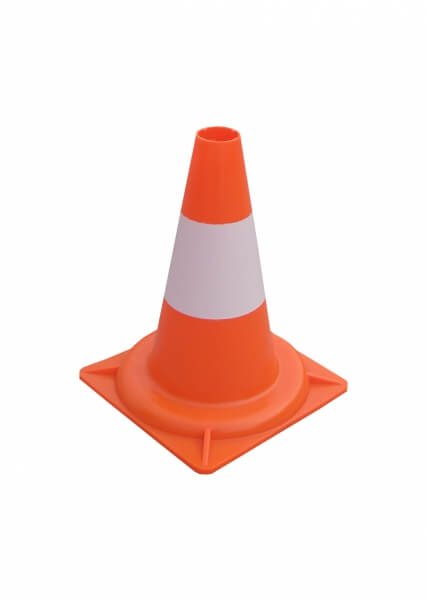 Cone 34 cm PVC traffic cones height 30 cm