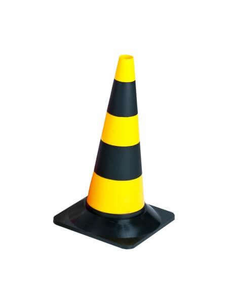 Cone 50 cm full traffic cones yellowish black height 50 cm