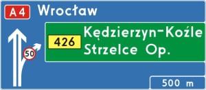 %name Znaki drogowe   kierunku i miejscowości