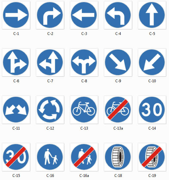 nakazu 2 Znaki drogowe   nakazu