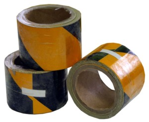 yellowish black odblaskowa1 300x247 Warning Tapes
