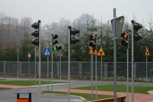 miasteczko rowerowe limanowa 9 1 500x334 Miasteczko ruchu drogowego w Limanowej
