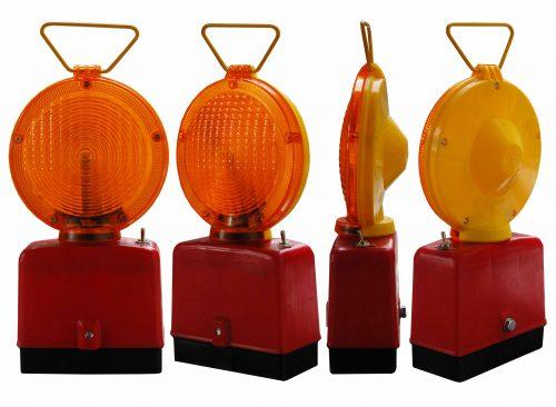 żółta jednostronna 500x366 Lampy Ostrzegawcze Diodowe – bateryjne Φ185