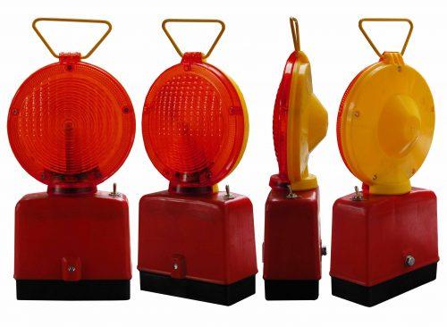 czerwona jednostronna 500x366 Lampy Ostrzegawcze Diodowe – bateryjne Φ185