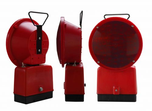 L8M 500x366 red LED Warning Lamps - Battery Φ200