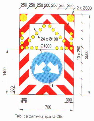 U26d 390x500 Tablica drogowa U26d