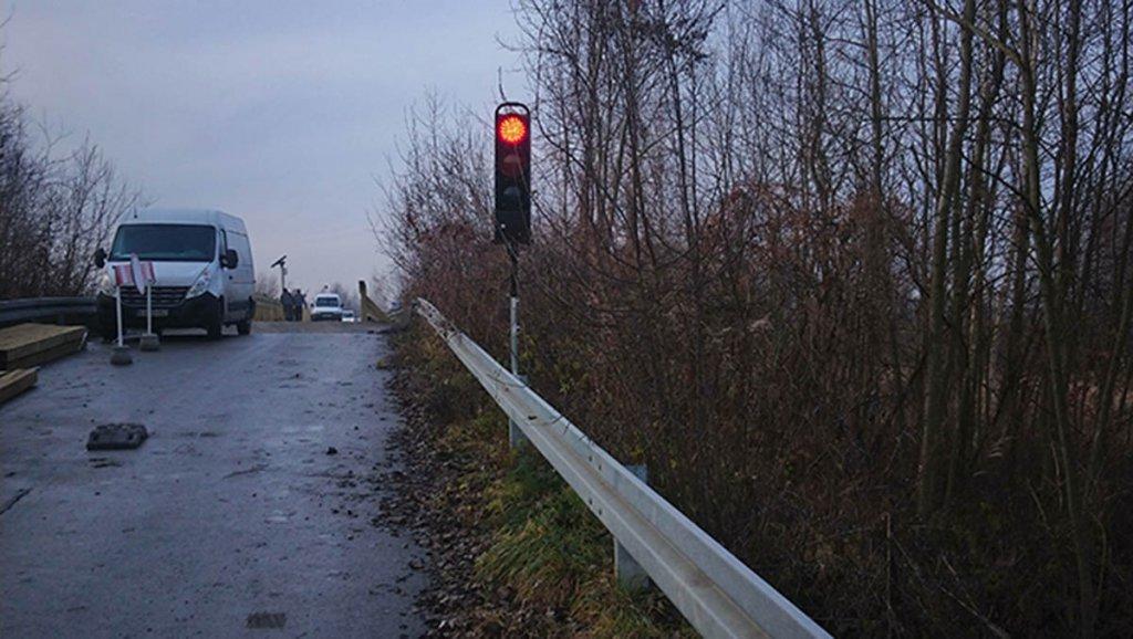 sygnalizacja wahadlowa most bronislaw1 1 1024x578 Montaż sygnalizacji wahadłowej w Gminie Miedźna