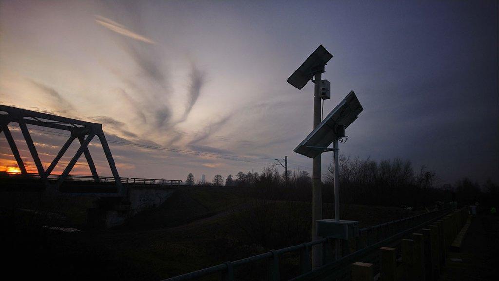 sygnalizacja wahadlowa most bronislaw2 1024x578 Montaż sygnalizacji wahadłowej w Gminie Miedźna