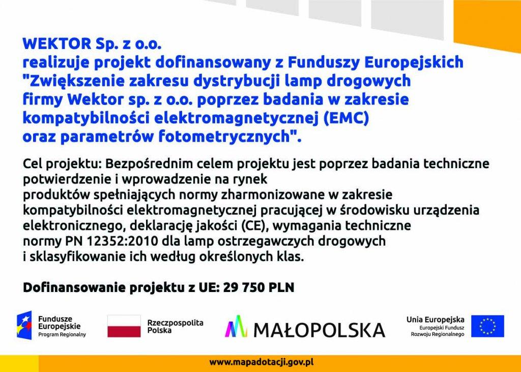 plakat WEKTOR A3 spad 2mm 1024x730 Projekt dofinansowany z Funduszy Europejskich