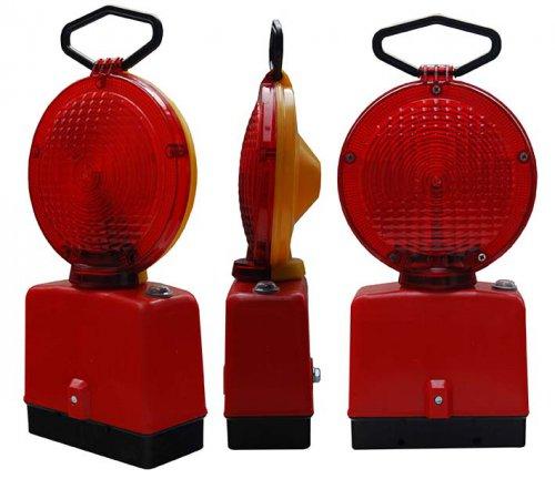 czerwona 1 stronna 500x432 Lampy Ostrzegawcze Diodowe – bateryjne Φ185