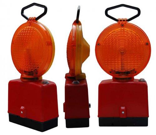 pomaranczowa 1 stronna 500x432 Lampy Ostrzegawcze Diodowe – bateryjne Φ185